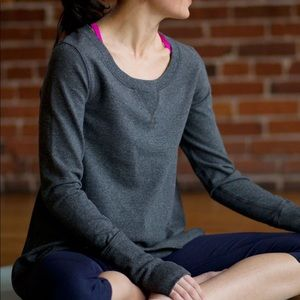 Lululemon Tea Lounge Gray Pullover Sweatshirt